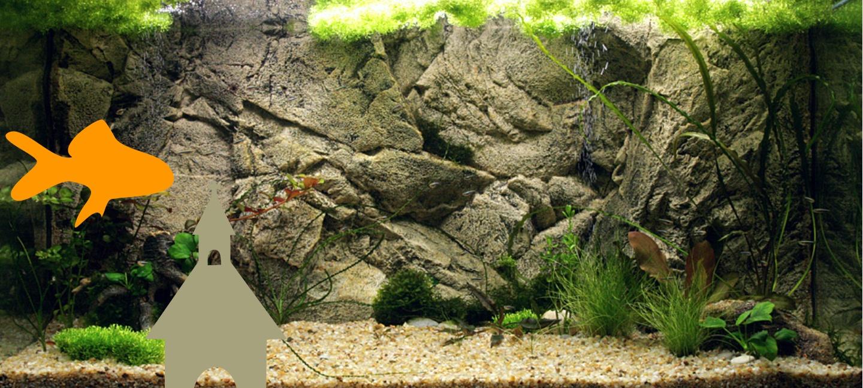 Внешний фон для аквариума своими руками